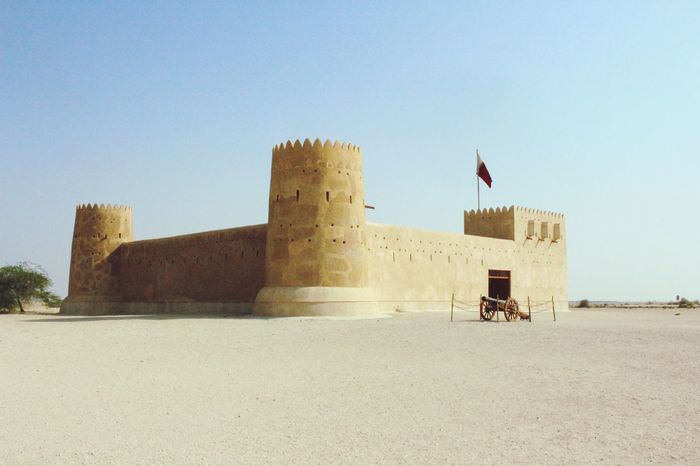Alzubarahfort Qatar2016 Whileindoha Desert Beauty Old Ruin Architecture Castle Fort History Photographyislife Desertliving Heatwave Mirrage Sunshine ☀ Photography Is My Therapy Traveldiaries✈🌍