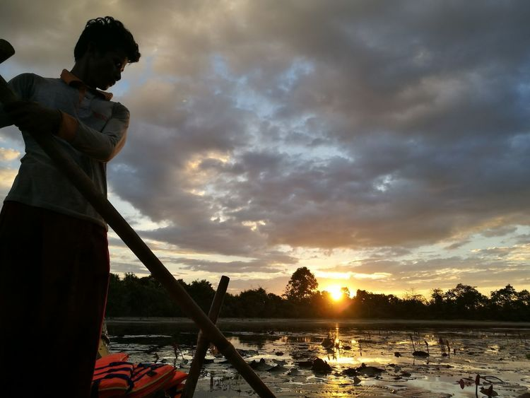 sunset cruise... Sunset Cloud - Sky One Person Water One Man Only Adult People Outdoors Adults Only Only Men Sky Men Sport Tree Day Nature Young Adult Moat Moats Surrounding The Moat Around The Wat LuxuryBlogger Travel Destinations Luxuryworldtraveler Old Ruin Emotional Photography