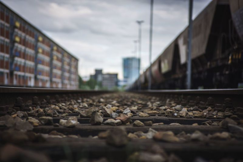 Bremen Sony A6000 50mmf2 Bokeh Architecture Sky Selective Focus Built Structure Surface Level Building Exterior Cloud - Sky Railroad Track City Close-up