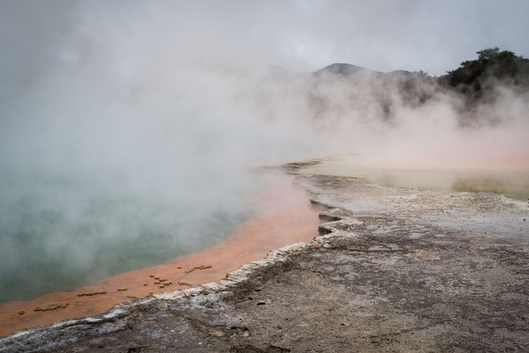 geothermal activity in new zealand Rotorua  Smoke Beauty In Nature Cloud - Sky Day Environment Geology Geothermal Activity Heat - Temperature Hot Spring Landscape Nature New Zealand No People Non-urban Scene Outdoors Physical Geography Power Power In Nature Scenics - Nature Smoke - Physical Structure Steam Water The Great Outdoors - 2018 EyeEm Awards