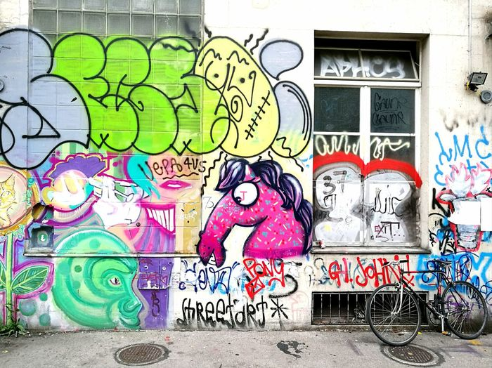 Wild mix of graffiti on a wall around Zurich, Switzerland Bicycle Abandoned Façade Tags Defaced Zürich Switzerland Suburbia Youth Art Rebellion Vandalism Illegal Criminal Multi Colored Pink Horse Pink Color Horse Head Painting Painted Image Street Photography Wall Mural Ghetto Street Art Graffiti Spray Paint Creativity Building Exterior Hip Hop