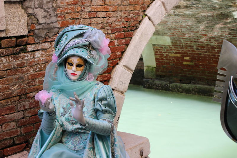 2017 Adult Adults Only Canale  Carnevale Di Venezia Clown Colors Day Mattoncini One Person Outdoors People Ponte Portrait Venice, Italy Water