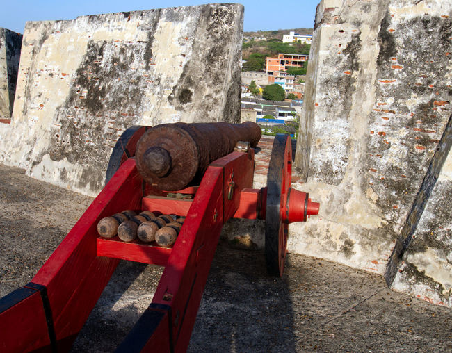 Close-up of old machinery on wall