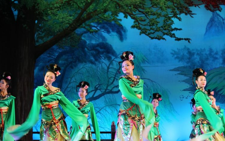 Xi'an, China. Traditional show Performing Arts Event Dancing China