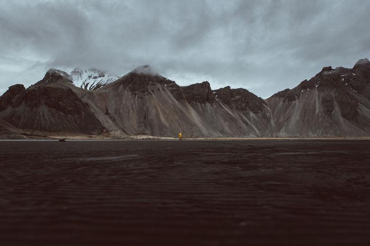Idyllic shot of rocky mountains against sky