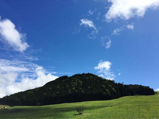 Volcano Volcano Crater Volcanic Landscape Green Nature Blue Sky Nopeople