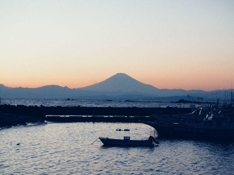 Sea Mtfuji Mauntain Fuji Kanagawa Japan