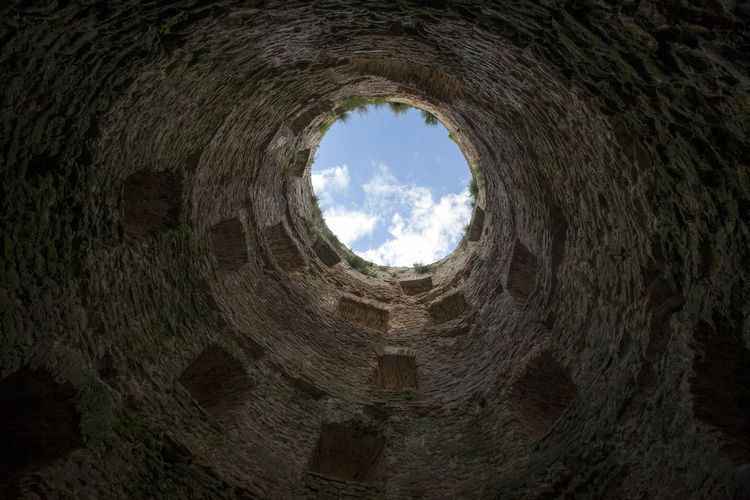 Ancient Antient Walls Architecture Castle Cloud - Sky In The Tower  Inside The Tower Inside View Out No People Old Ruin Tower Wall And Windows