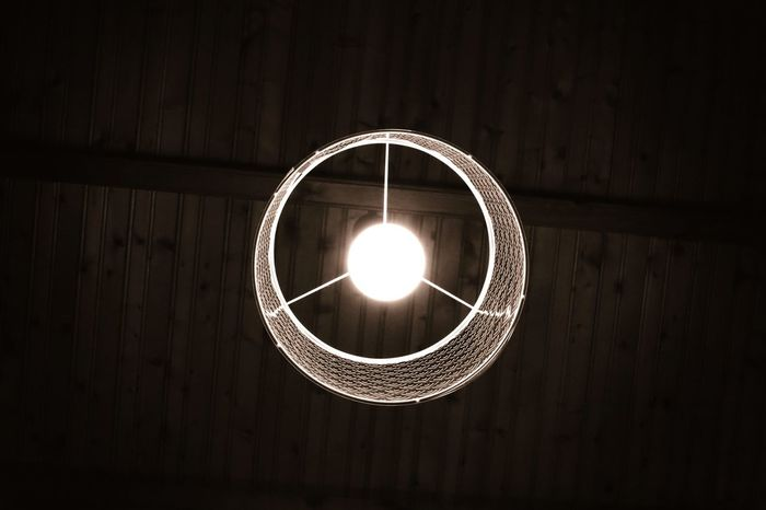 Circle Illuminated Hanging No People Studio Shot Black Background Indoors  Innovation Day Concentric Close-up Lamp Design Wood - Material Textured  Pattern Backgrounds Brown Full Frame