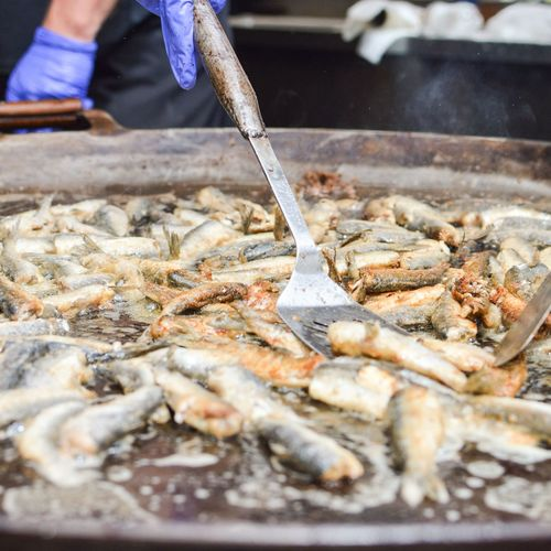 Vendace are heating up!! Soooo delicious!! Human Hand Occupation Seafood Working Preparation  Heat - Temperature Low Section Close-up Food And Drink Fish Market Steam Dried Fish  Food State Fishes