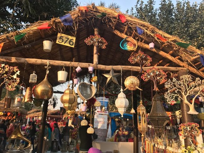 Hanging Decoration Market Retail  Day Tree Low Angle View For Sale Lighting Equipment Choice Variation Large Group Of Objects Market Stall No People