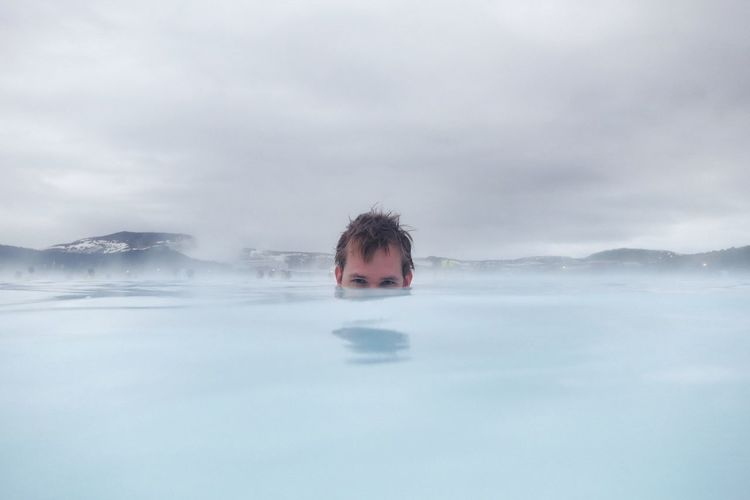 Blue Wave Iceland Blue Lagoon Iceland Travel Underwater Hot Springs White The Great Outdoors - 2016 EyeEm Awards Natural Light Portrait 43 Golden Moments Adventure Club Fine Art Photography Pivotal Ideas Color Palette People And Places People And Places. Miles Away TCPM