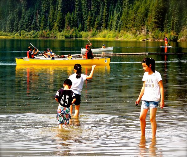 E C Manning Park Lighting Lake Canoes On Lake Leisure Activity Outdoors Water Activity Paint The Town Yellow