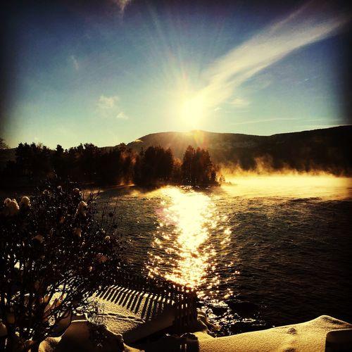 Eikeren Winter Sun Norway Lovelife Water