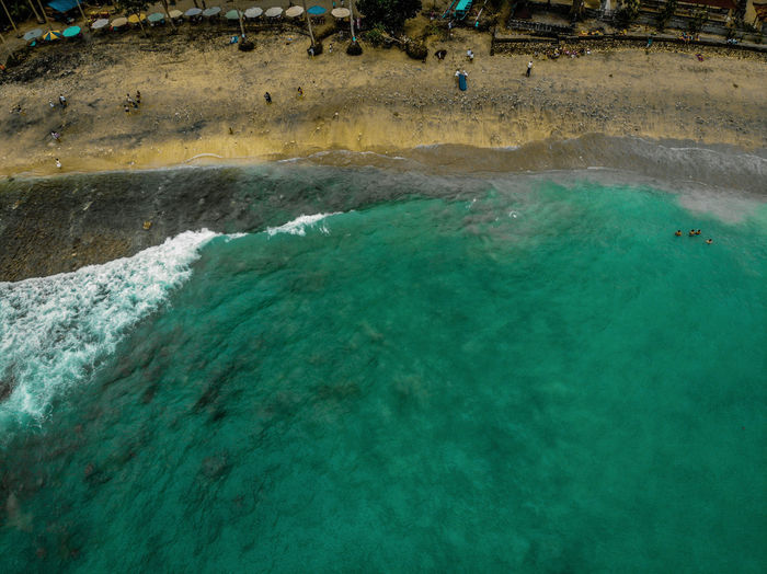Drone  Aerial View Beach Beauty In Nature Day Dronephotography Green Color High Angle View Hot Spring Land Nature No People Outdoors Pollution Power In Nature Scenics - Nature Sea Solid Tranquil Scene Tranquility Travel Destinations Turquoise Colored Volcanic Crater Water Waterfront