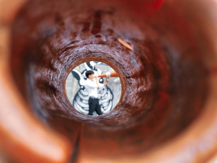 Close-up of hole
