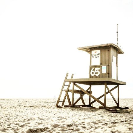 Beach Sand Lifeguard Hut Sea Vacations Lifeguard  Protection Outdoors Safety Day Wood - Material Tranquility Summer Travel Destinations No People Nature Horizon Over Water Sky Water Architecture California Dreamin