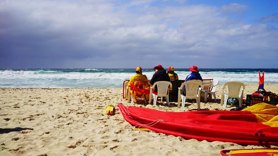 Heroes of the Tamarama Beach - NSW Australia Beach Outdoors Nature Visitaustralia Visitnsw EyeEm Nature Lover Eyeem Australia Coast Guard Storm Cloud
