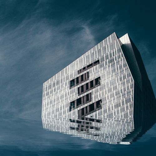 Architecture Built Structure Building Exterior Low Angle View Sky Water City Waterfront Modern Building Story No People Outdoors Day Exterior Skyscraper Tall Office Building Hello World Ladefense Urbexphotography