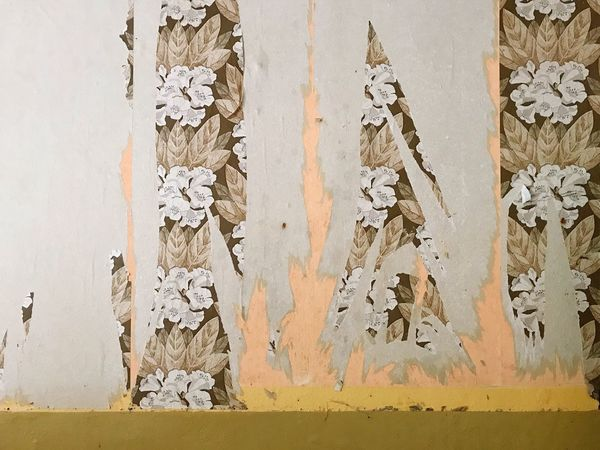 Renovation Ripped Wall Paper Building Interior Wall - Building Feature Architecture Built Structure No People Full Frame Weathered Day Wall Old Textured  Backgrounds Peeling Off Damaged Pattern Art And Craft