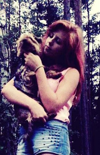 Heppy Summer ☀ Dog❤ My Dog <3 DogLove Pink Hair Pink Witch Hotgirl Lifeisbeautiful