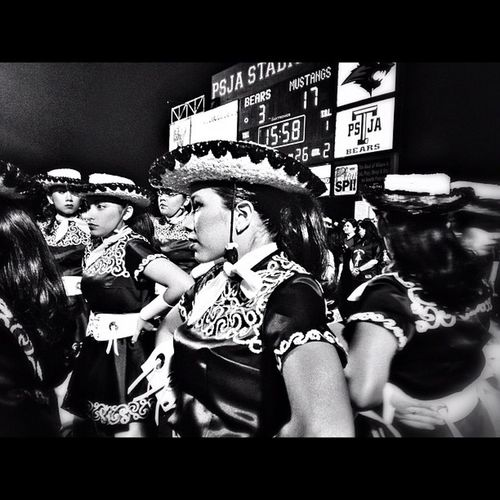 Friday Night Pagentry Blackandwhite Bw Texasfootball Psjabears Psja Fridaynightlights Bearettes Drillteam