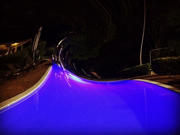 Avaré Abstract Artphotography Art Night Light Trail Illuminated Long Exposure Water Blue Transportation No People Outdoors