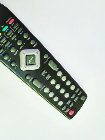 Clicik Remote Control Technology Control Push Button Television Set No People Close-up Day Indoors