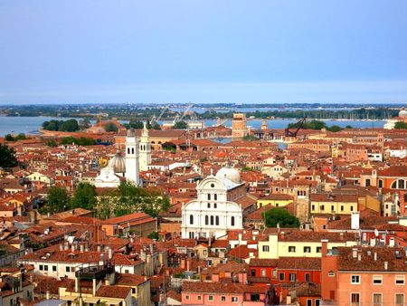 Architecture Building Exterior Campanile Churches City City Life Cityscape Elevated View Horizon Over Land Italy Nature No People Outdoors Panoramic View Red Roofs Rooftop Rooftops Sea Sky The Great Outdoors - 2016 EyeEm Awards TOWNSCAPE Venice Venice, Italy Water The Architect - 2016 EyeEm Awards