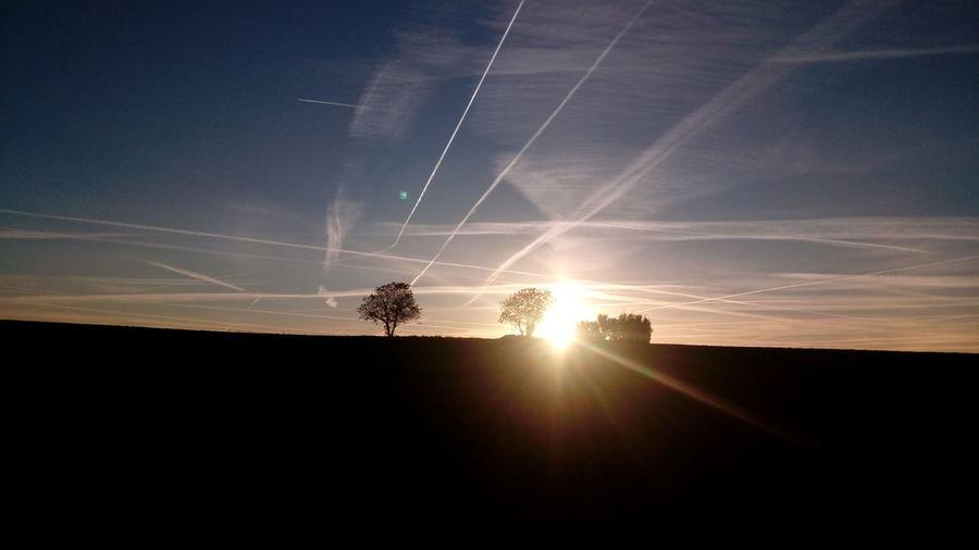 Sunset Astronomy Rural Scene Silhouette Sky Landscape