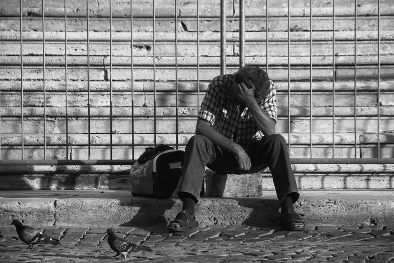 Hard Times Ads, Adult, Advert, Advertise, Advertisement, Advertising, Background, Banner, Billboard, Board, Business, Cardboard, Communication, Concept, Crisis, Document, Employment, Emplyment, Hand, Hard, Holding, Homeless, Human, Idea, Issue, Job, Male, Man, Marke Casual Clothing Day Full Length Leaning Leisure Activity Lifestyles Relaxation Sitting