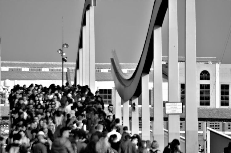 EyeEm Best Shots EyeEm Gallery EyeEm Bnw Large Group Of People Crowd Real People Group Of People Architecture Women Men City Built Structure Lifestyles Street Outdoors Day