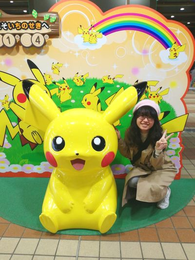 Pikachu Pokémon Full Length Smiling One Person People Cheerful Adult Only Women One Woman Only Happiness Young Adult