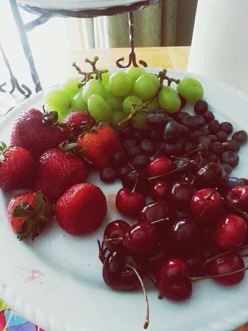 Foodphotography Strawberries Grapes Cherries🍒 Blueberries Independencedayweekend Colors Soft Focus Color Enhanced Shiney
