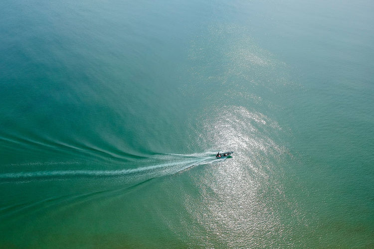 Dronephotography Aerial Photography Aerial Landscape Nautical Vessel Sailing Sea Water Wake Vapor Trail Wake - Water Yachting Aerial View High Angle View Jet Boat Oil Pump Speedboat Motorboat Recreational Boat