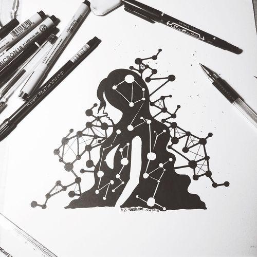 Art Illustration Drawing Kz 平面设计 People And Art