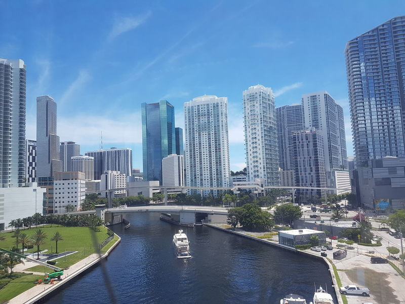 Miami Miami, FL Miami Beach Skyscraper Cityscape Architecture City Urban Skyline Downtown District Modern Building Exterior Business Finance And Industry Outdoors Built Structure No People Day Travel Destinations Sky Futuristic