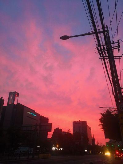 붉은노을 말고 붉은일출 Sumrise Seoul