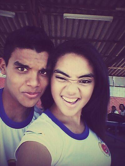 Caras e bocas com primo que amo♥♥