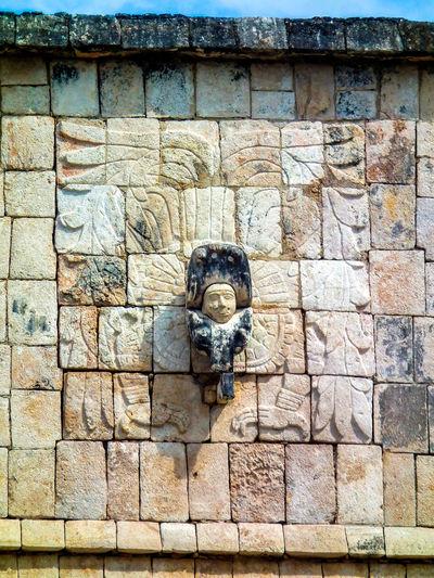 Archaeological Sites Carving Chichen Itza Figure Mayan Mayan Ruins Mayan Wonders Quetzalcoatl Stone Stone Material Weathered Yucatan Mexico Yucatan Peninsula Yúcatan