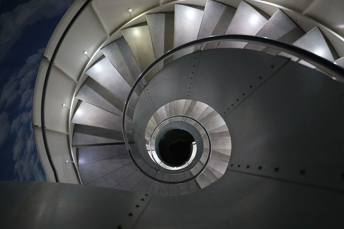 Architecture Built Structure Indoors  No People Railing Spiral Spiral Staircase Spiral Stairs Staircase Stairs Steps Steps And Staircases Vertigo