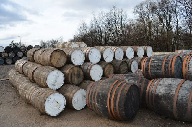Scotland Scotland Highlands Abundance Arrangement Barrel Cellar Day Isle Of Skye Large Group Of Objects No People Outdoors Sky Stack Whiskey Barrels