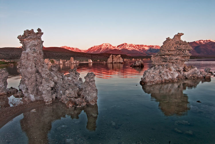 South Mono Lake, California Architecture Beauty In Nature Clear Sky Eroded Lake Nature No People Reflection Rock Rock - Object Scenics - Nature Sky Solid Tourism Tranquil Scene Tranquility Travel Travel Destinations Water Waterfront
