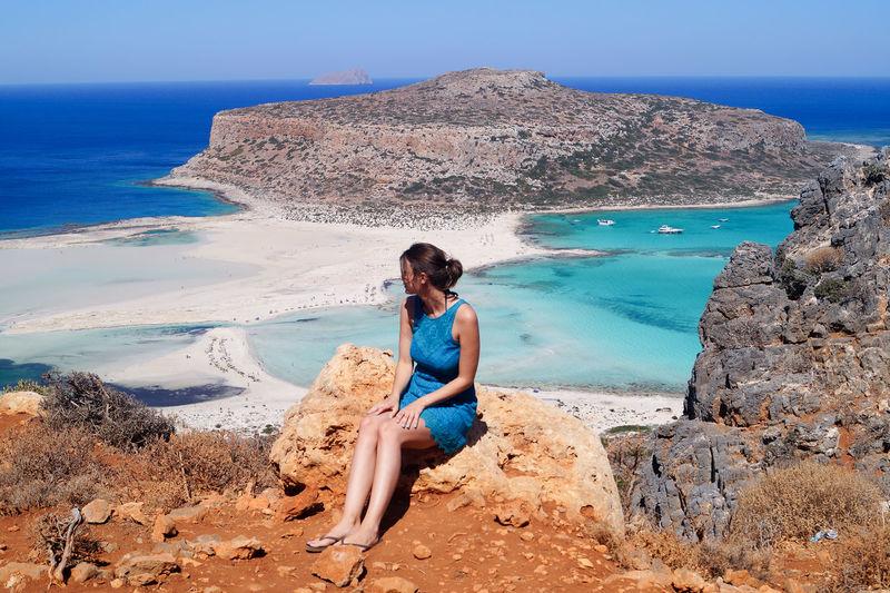 Balos Balos Lagoon Crete Island EyeEmNewHere Beach Beautiful Woman Beauty In Nature Clear Sky Crete Lifestyles Nature Outdoors Sea Sitting Water