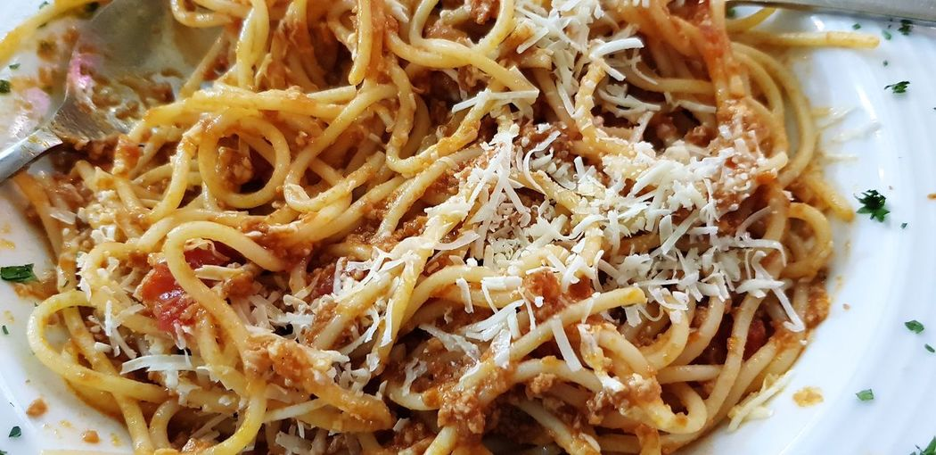 Santorini Italian Food Grated Close-up Food And Drink Spaghetti Pasta Serving Size