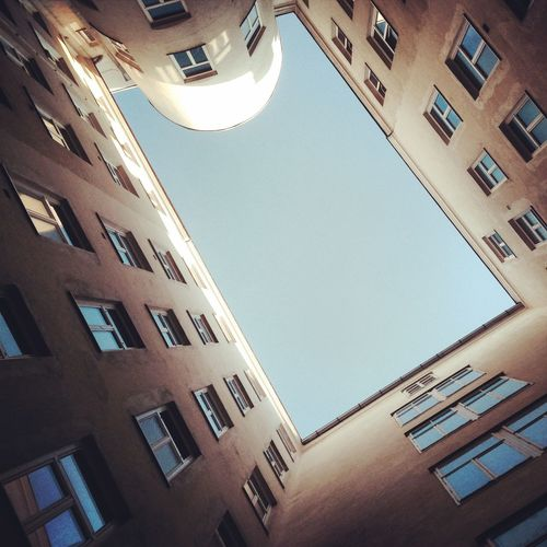 Geometric Shapes up up. Change Your Perspective IPhoneography Austria