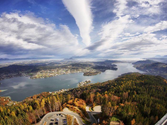 Herbstlicher Wörthersee Kärnten Wörthersee Herbst First Eyeem Photo Pyramidenkogel View Fall Austria Carinthia Lake