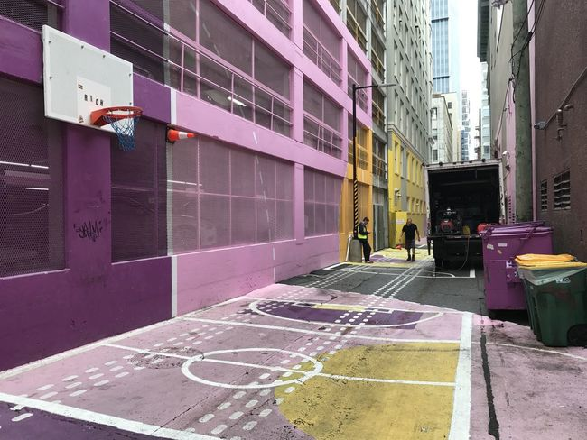 Alleyway in vancouver Basketball Colors Urban Exploration Alleyway Architecture Basket Building Exterior Built Structure City City Design City Planning Day Design Indie Men Outdoors People Real People Street Art Urban Urban Landscape Walking Women