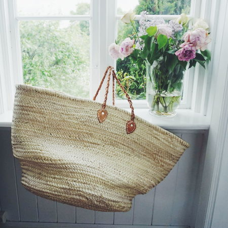 summer interiors Window Indoors  Wood - Material Flower No People Home Interior Day Nature Strawbag Flowers Peony Flower Peony  Windows Summer Interior Views Interior Interior Style Interior Decorating Homedecor