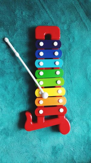 Xylophone with stick Child Education Music Toy Learning Wooden Game Arts Culture And Entertainment Close-up Still Life